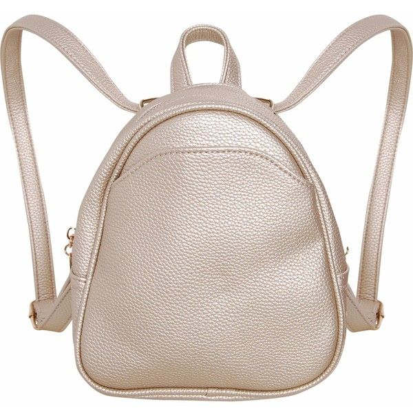 Humble Chic NY Mini Vegan Leather Backpack ($44) ❤ liked on Polyvore featuring bags, backpacks, champagne, convertible handbags, fake leather backpack, mini backpack, vegan leather backpack, strap backpack and mini bag