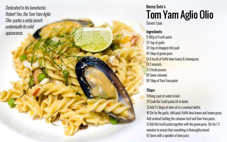 Tom yam pasta recipe