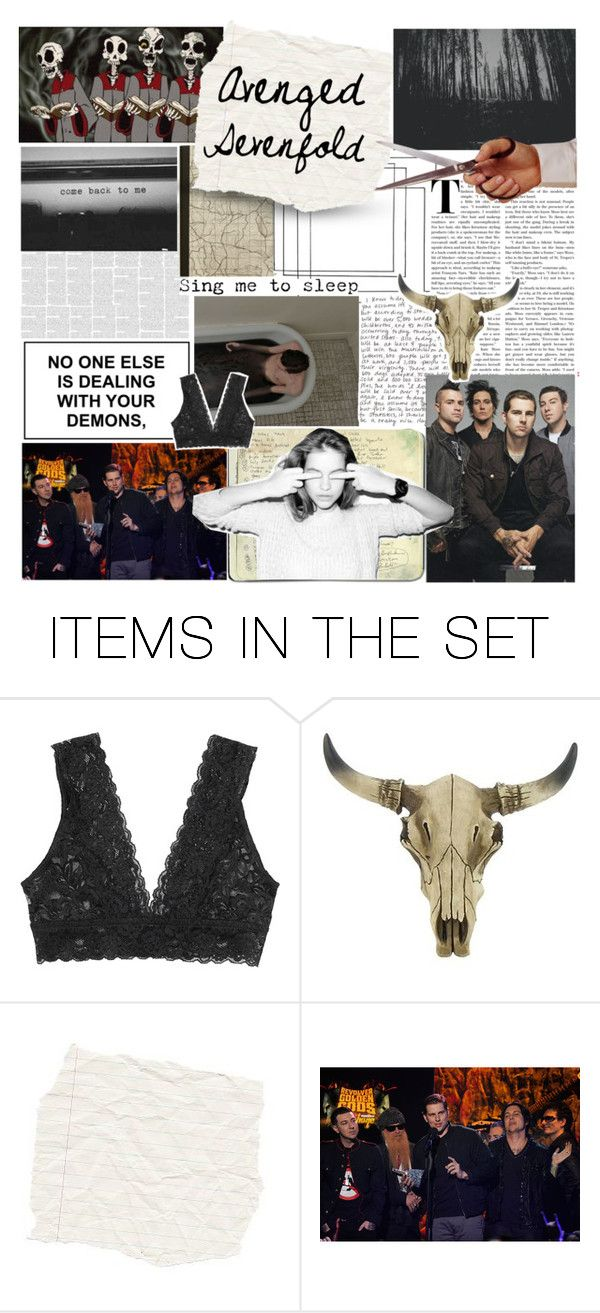 """ Battle of the Bands : round #7"" by ilafabbro ❤ liked on Polyvore featuring art, bands, avengedsevenfold and scroll_position"
