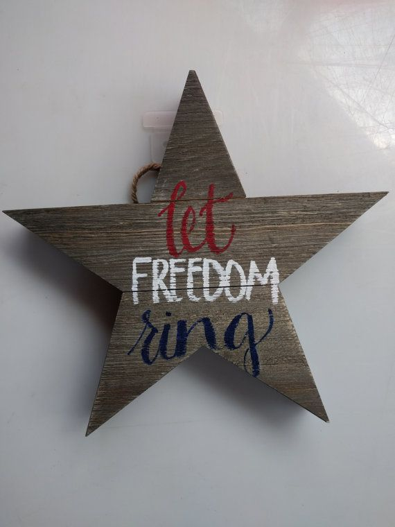 Let Freedom Ring by HoneyBeesWoodSigns on Etsy