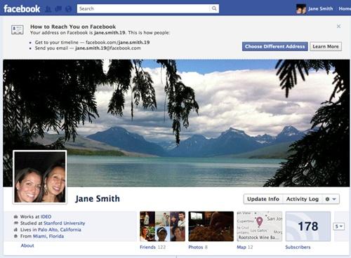 Facebook unifica la url personalizada con el email