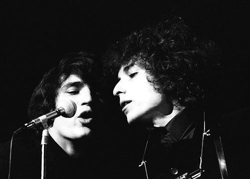 1- Rick Danko and Bob Dylan, 1966.