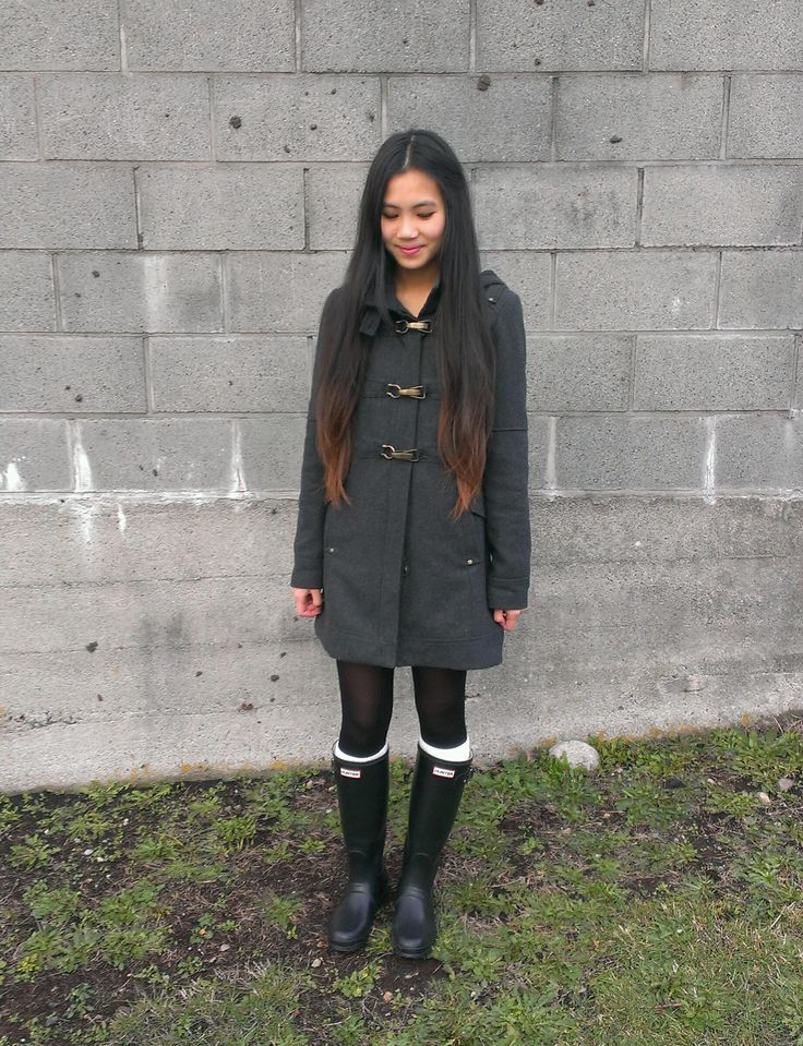 me in my black matte hunter boots hunter boot outfits