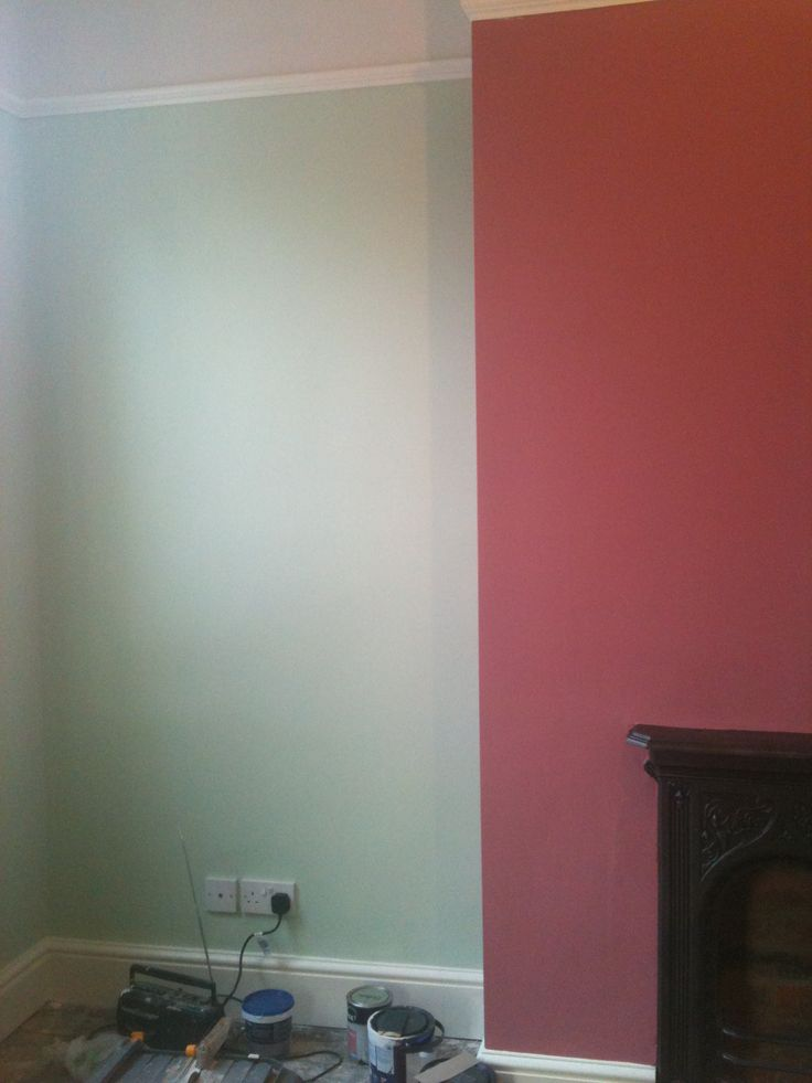 Pink Chimney Breast Dulux Raspberry Diva And Green Walls
