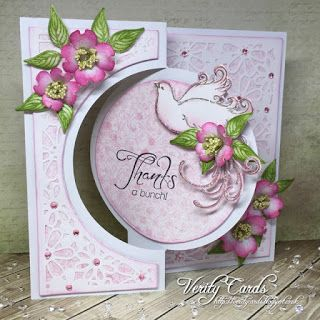 Verity Cards: Thank you card w/ Flowering Dogwood collection from #HeartfeltCreations
