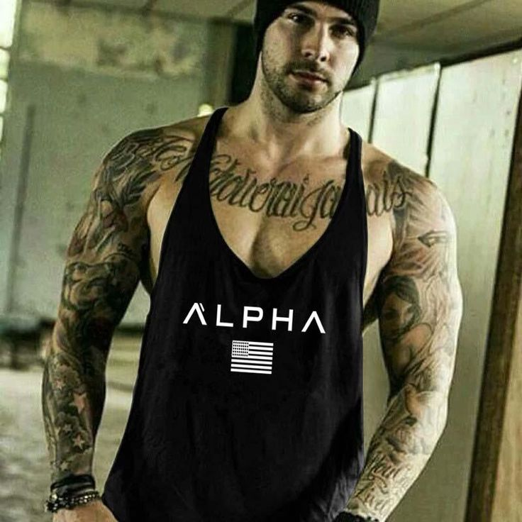2018 New ALPHA Gym fitness Tank top