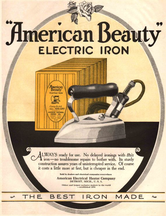 1920's American Beauty Electric Clothes Iron by ...