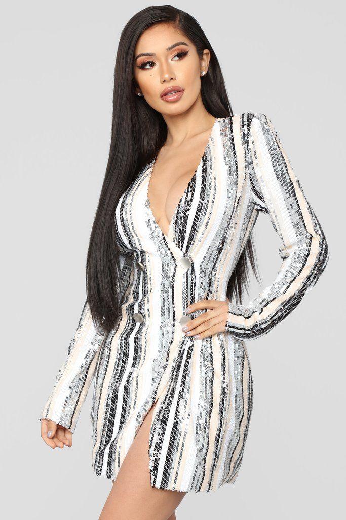 1e6a04f863e0 Dazzle In The Night Sequin Dress - Ivory in 2019