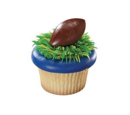 48  NFL Brown Football Shield Rings  Designer CakeCupcake Topper  New * Visit the image link more details.