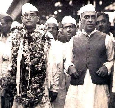 Subhash Chandra Bose with Pandit Nehru! #history #historypics #historypicture…