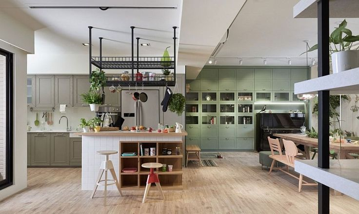 Image result for rack over kitchen island