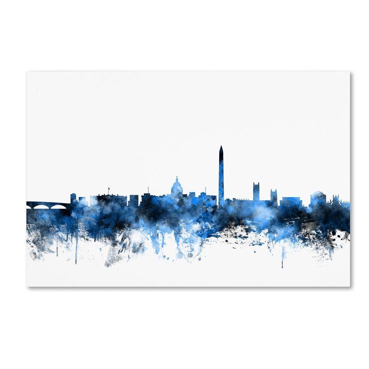 Washington DC Skyline III by Michael Tompsett Graphic Art on Wrapped Canvas