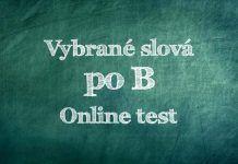 Vybrané slová po B – online test