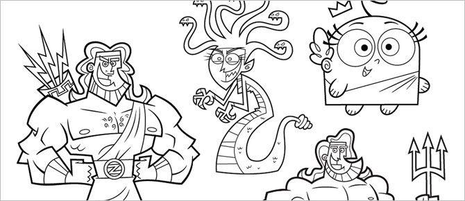 Os Padrinhos Mágicos: personagens e cenários