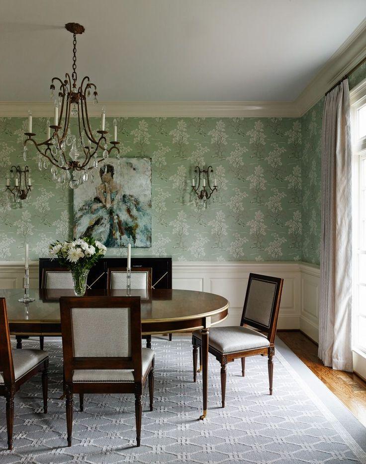 Зеленые обои в интерьере: как придать пространству свежести и 50+ лучших сочетаний http://happymodern.ru/zelenye-oboi-v-interere-55-foto-kak-sdelat-komnatu-uyutnoj/ Зеленые обои в классическом интерьере