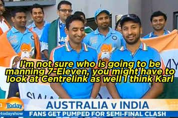 This Indian Cricket Fan Responded Perfectly To A Racist Joke On Live TV