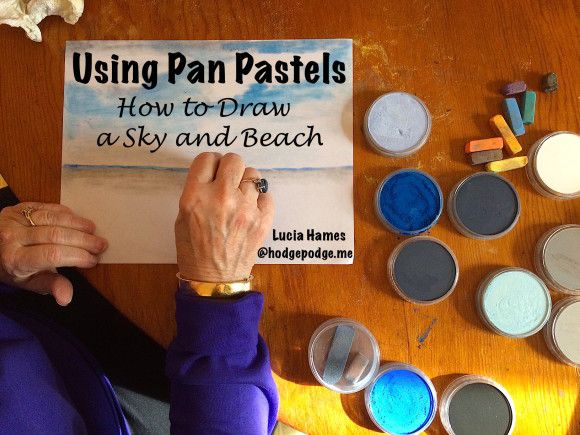 Using Pan Pastels: How to Draw a Sky and Beach