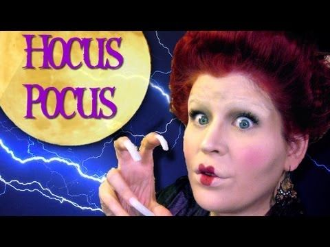 Youtube tutorial, Halloween Makeup: Winifred Sanderson from Hocus Pocus