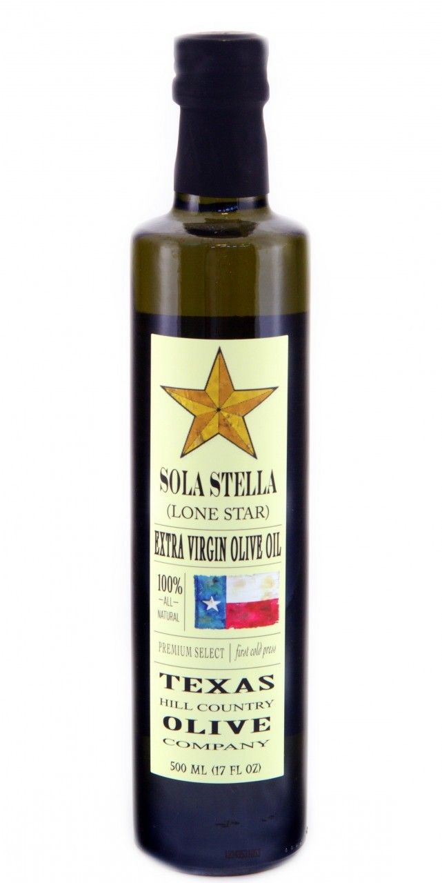 LOVE this Texas Hill Country Olive Co. - Sola Stella very buttery and stands up to high heat cooking. Texas olive oil is regulated more tightly than imported olive oils so this is an important product to buy locally.