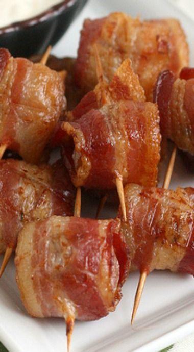 Bacon-Wrapped Potato Bites with Chipotle Sour Cream