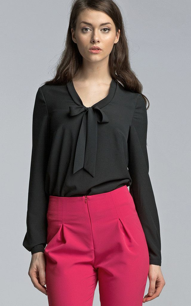 Mix up your casual/smart black shirts with a bright skirt or pair of trousers!