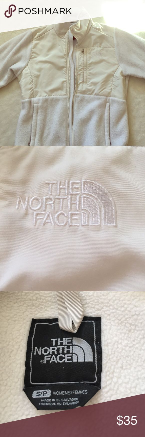 White North Face jacket This gently used white north face is great for staying warm! The North Face Jackets & Coats