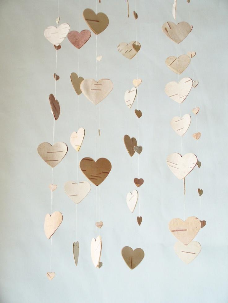 birch bark hearts