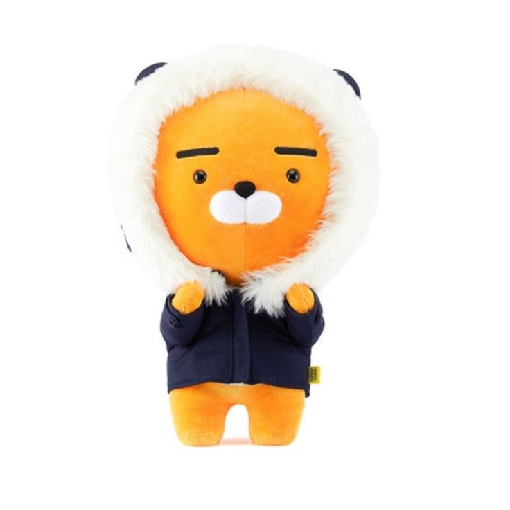 Kakao Friends Winter Ryan Navy 45cm Plush Doll Limited Edition Christmas Gift #KakaoFriends