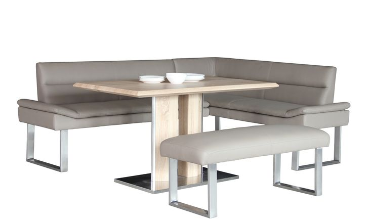 The Ligano Collection combines a flawless stainless steel base and frame with stylish cappuccino PU leather to create a unique dining set perfect for any modern home. This range is available with dining table, corner bench and bench in a beautiful combination...