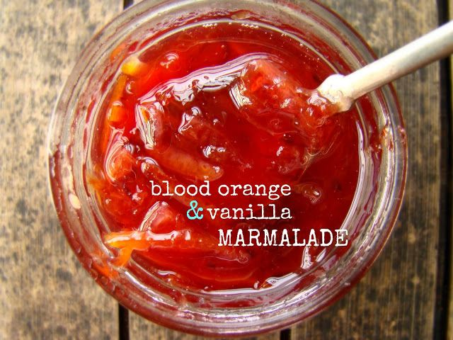 Blood orange vanilla marmalade