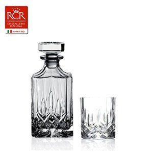 Rcr Opera Service à Whisky, Verre Sonore, Transparent, 7 Pièces