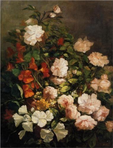 Spray of Flowers - Eugene Boudin