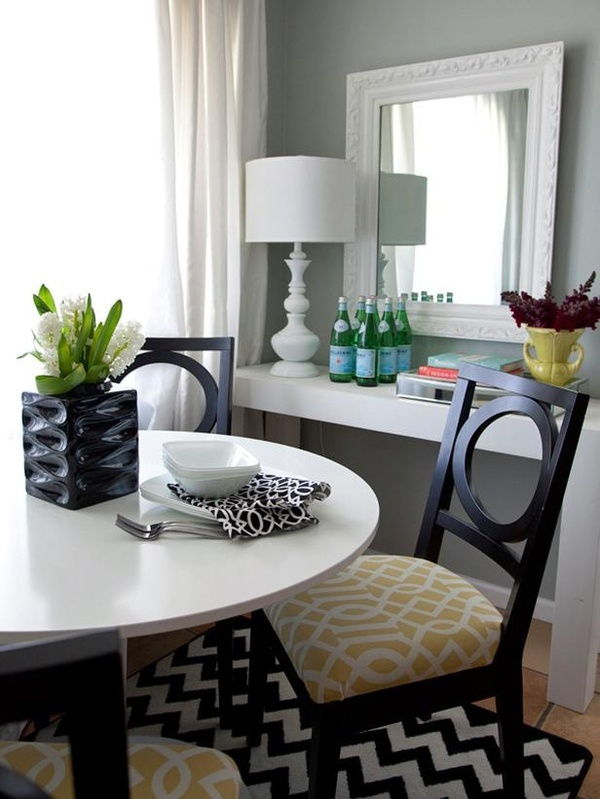 Dining Room Decor--inexpensive console for storage & display