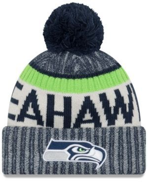 SEATTLE SEAHAWKS NEW ERA 2017 SIDELINE OFFICIAL SPORT KNIT HAT - COLLEGE NAVY  New Era From: Macys.com $30.00