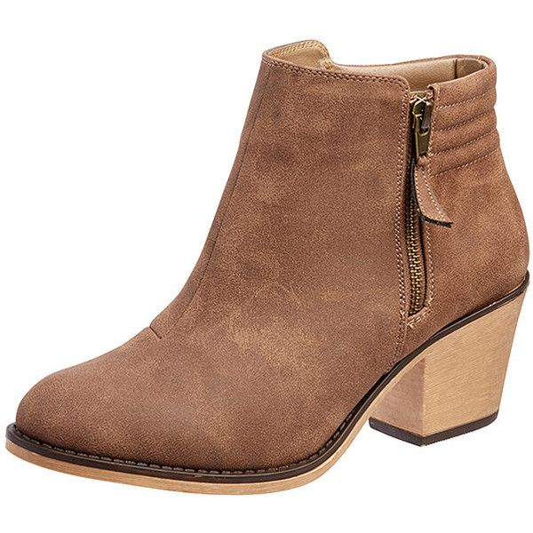 Saunter Ankle Boots Brown Target Australia (£23) ❤ liked on Polyvore
