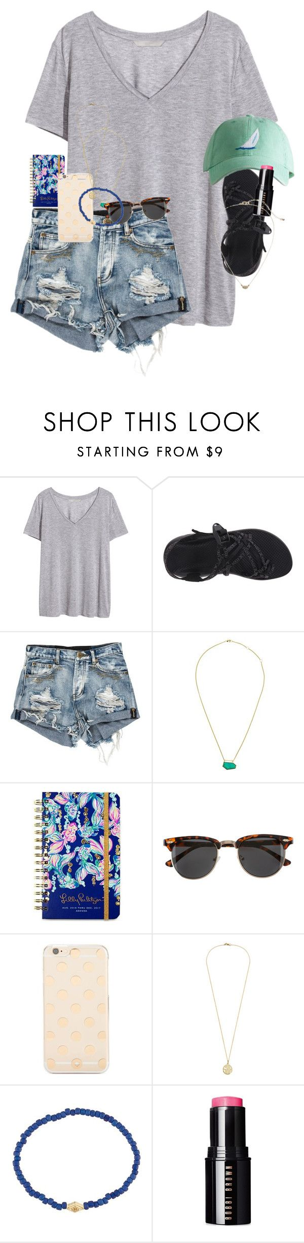 """""""Kendall comes tomorrow!!!!"""" by erinlmarkel ❤ liked on Polyvore featuring H&M, Chaco, One OAK by Sara, Lilly Pulitzer, Kate Spade, Luis Morais, Bobbi Brown Cosmetics and Gap"""