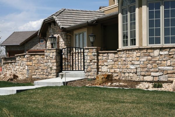 This is stone veneer tile pinterest wrap around for Wrap around porch columns
