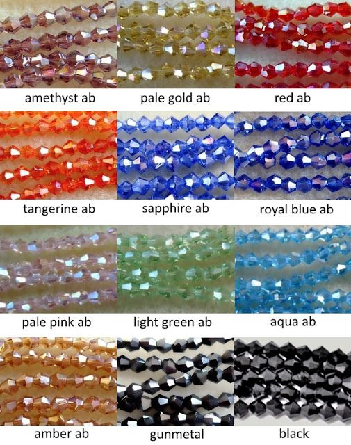 4mm crystal bicone beads