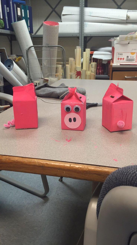 Preschool Economics Lesson idea. Money, preschool, piggy bank, milk carton, pig,