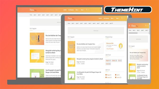 Fletro Premium Blogger Template Free Download By Themehint In 2020 Blogger Templates Free Blogger Templates Templates Free Download
