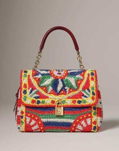 Sicilian Cart Crochet Raffia Dolce Bag #dolcegabbana #musthave