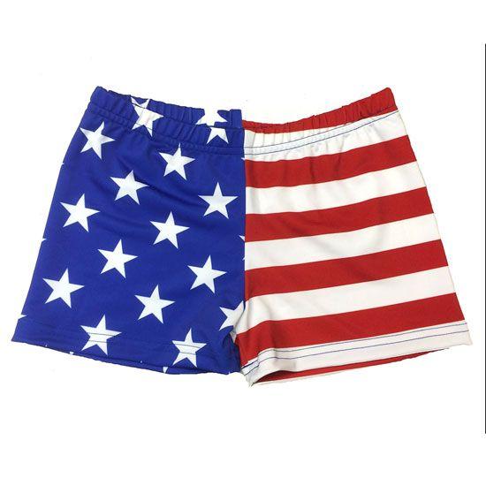 Svforza USA Flag Volleyball Spandex Short