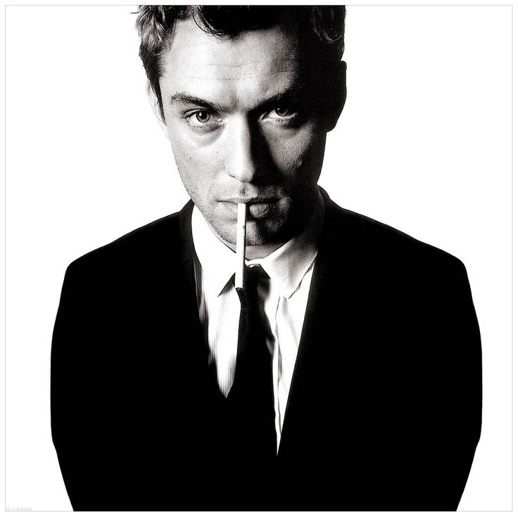 Jude Law Photo David Bailey - Has the look of the 60's Caine shot about it!
