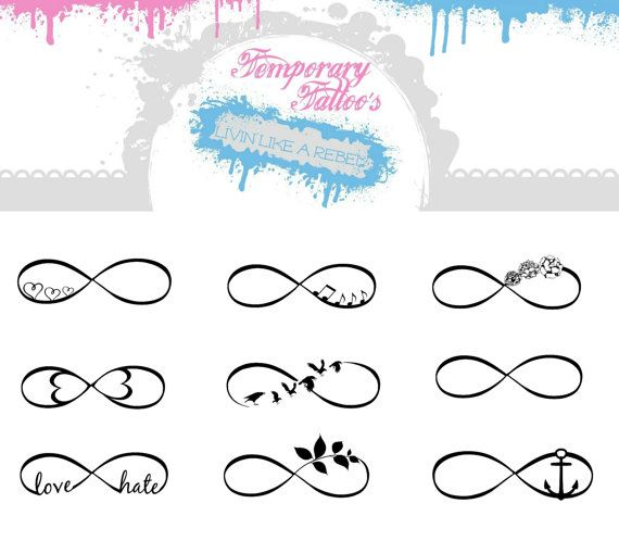 Hey, I found this really awesome Etsy listing at https://www.etsy.com/listing/178477092/9-infinity-temporary-tattoos-large