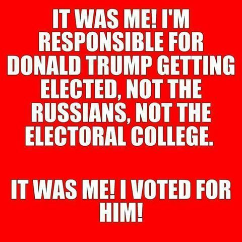 """Last time I checked, """"The Russians"""" didn't get to vote for Trump, though. I think if given the chance, Putin would have indeed voted Trump."""