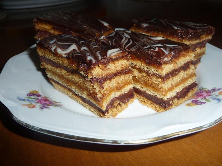 Báječné medové rezy s čokoládovým krémom