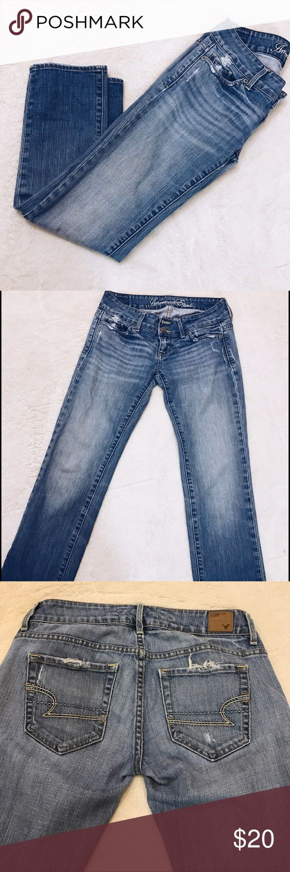 American Eagle Jeans American Eagle jeans with distressed pockets American Eagle Outfitters Jeans