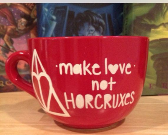 Perfect mug to make you feel loved! This Harry Potter mug is big enough (an amazing 26oz) to hold soup or oatmeal.....and obviously coffee, tea,