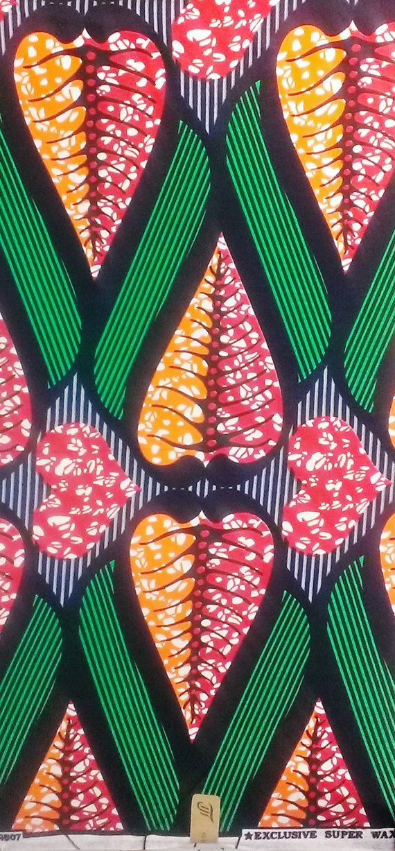 This is a beautiful African print fabric 100% wax cotton. Can be used for all types of crafts and dress making. This fabric is sold by the yard (91 cm