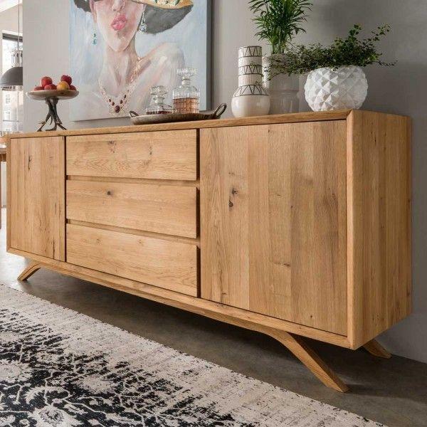 Sideboard Grionia Aus Wildeiche Massivholz 180 Cm Breit Haus